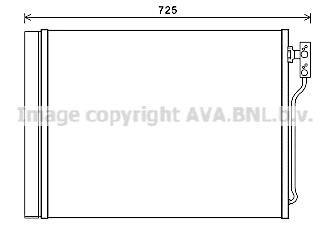 Радиатор кондиционера Ava BWA5435D
