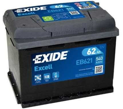 Аккумулятор автомобильный EXIDE EB621 62 Ач