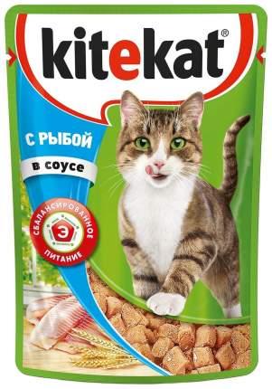 Влажный корм для кошек Kitekat с сочными кусочками рыбы в соусе, 28 шт по 85г