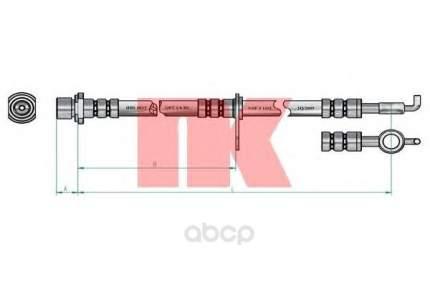 Шланг тормозной системы Nk 8545151 передний