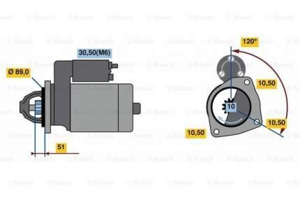 Стартер Bosch 0 001 263 024