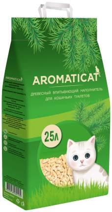 Древесный наполнитель туалета для животных Aromaticat, 25 л, 15 кг
