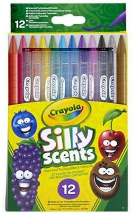 Набор выкручивающихся, ароматизированных цветных карандашей Crayola, 12 штук