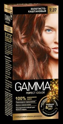 Краска для волос SVOBODA GAMMA Perfect color золотисто-каштановый 7,37, 50гр