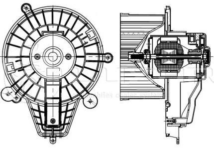 Вентилятор охлаждения двигателя Luzar LFH03631