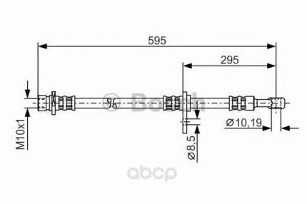 Шланг тормозной системы Bosch 1987481044