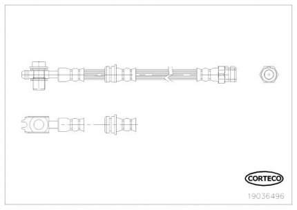 Шланг тормозной системы CORTECO 19036496