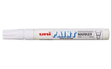 Маркер перманентный Uni Paint PX-20 2,2-2,8мм овальный (белый, 1 штука)