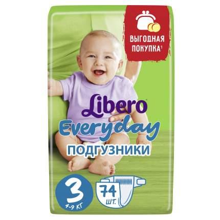 Подгузники Libero Everyday Size 3 (4-9кг), 74 шт.