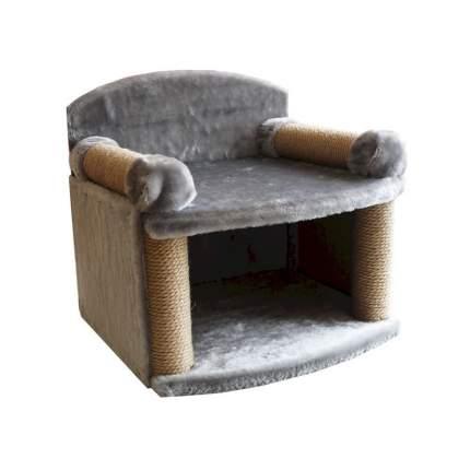 Комплекс для кошек Zooexpress Трон с когтеточками, меховой 43 х 48 х 46 см