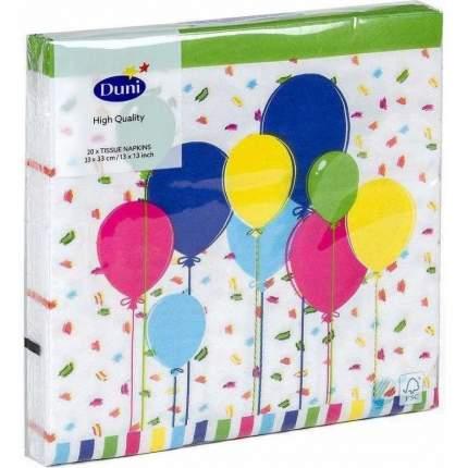 Салфетки Duni бумажные трехслойные Balloons and confet 33х33 см 20 штук
