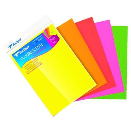Sadipal Набор бумаги с флюоресцентным покрытием SADIPAL, 250г/м2, 21х29.7см, 5 цветов