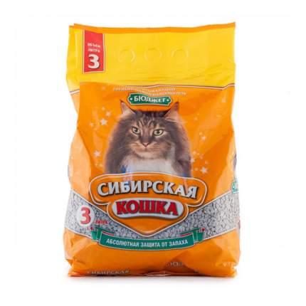 Наполнитель Сибирская кошка БЮДЖЕТ впитывающий 3 л 1.7 кг