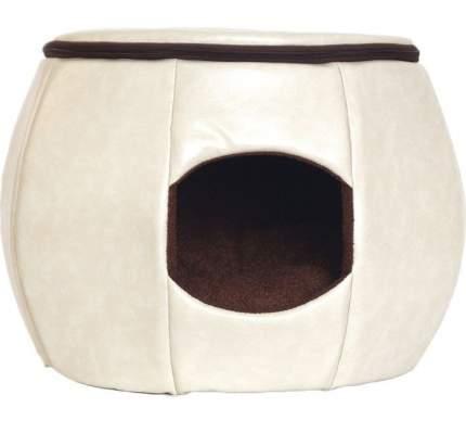 Домик для собак Кожа YORIKI Бочка 43х30х45см