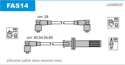 Комплект проводов зажигания JANMOR FAS14