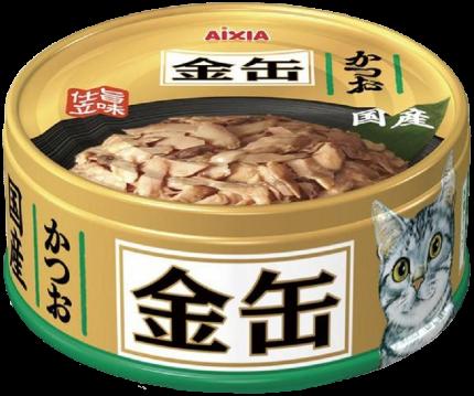 Консервы для кошек AIXIA «Kin-Can», полосатый тунец в бульоне 70г