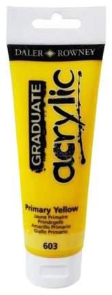 Акриловая краска Daler Rowney Graduate желтый основной 120 мл