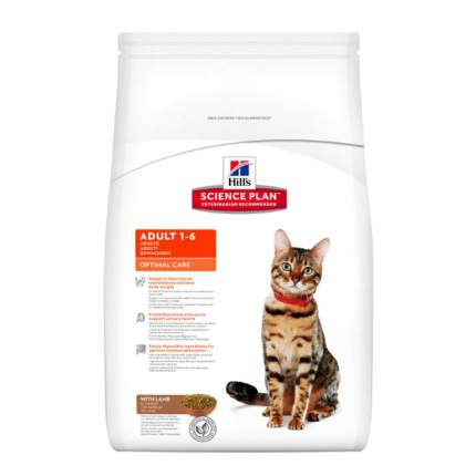 Сухой корм для кошек Hill's Science Plan Optimal Care, ягненок, 2кг