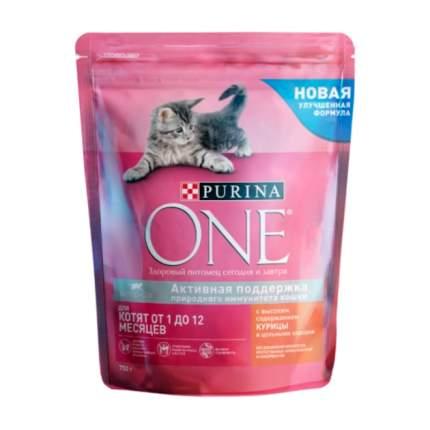 Сухой корм для котят Purina One, курица и цельные злаки, 0,75кг