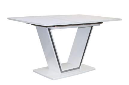 Кухонный стол Hoff 75х140х90 см, белый/серебристый