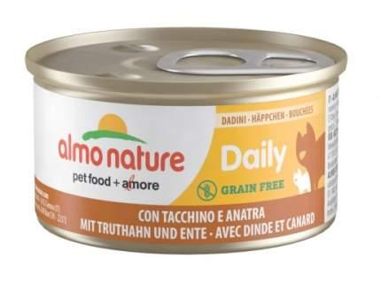 Консервы для кошек Almo Nature Daily Adult, индейка и утка, 85г