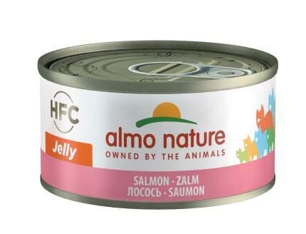 Консервы для кошек Almo Nature HFC Jelly, лосось, 70г