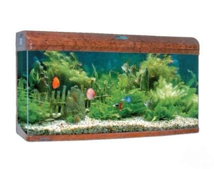 Аквариум для рыб Jebo RA 3126, с изогнутым стеклом, темное дерево, 289 л
