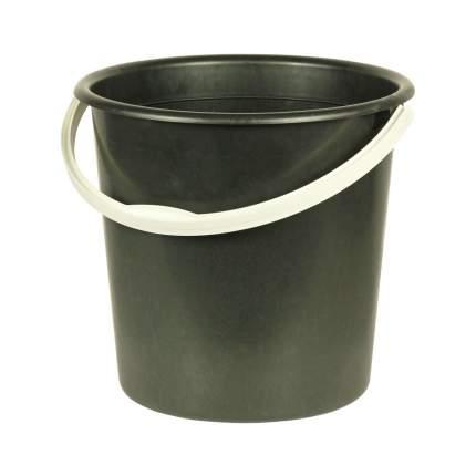 Ведро  пластиковое черное 10л (А) М2057  2 сорт