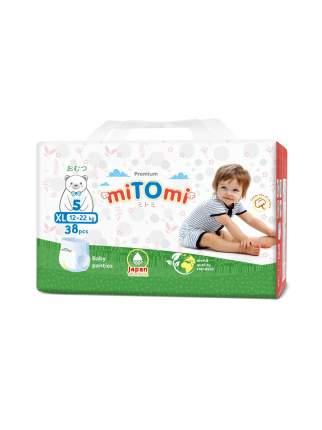 Подгузники-трусики miTOmi, XL (12-22 кг), 38 шт.