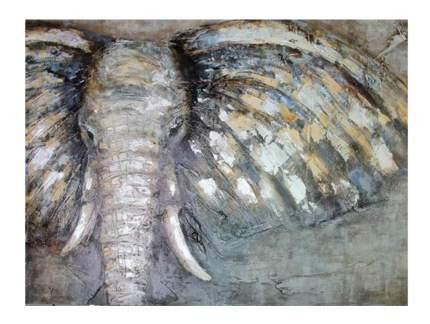 Репродукция в раме 123x83 см Hoff Слон