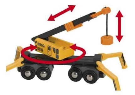 Подъемный кран деревянной железной дороги с аксессуарами Brio 33734