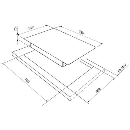 Встраиваемая варочная панель газовая Smeg PGF75-4 Silver