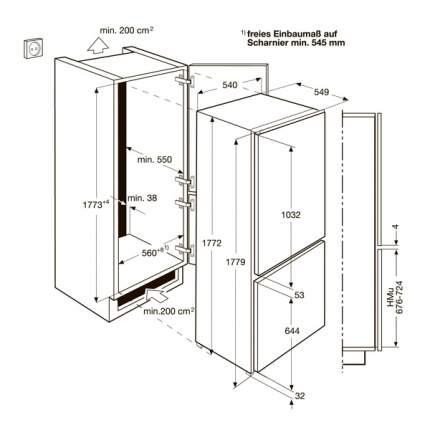 Встраиваемый холодильник Electrolux ENN92853CW White
