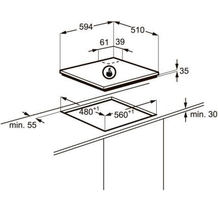 Встраиваемая варочная панель газовая Zanussi ZGX565424X Silver