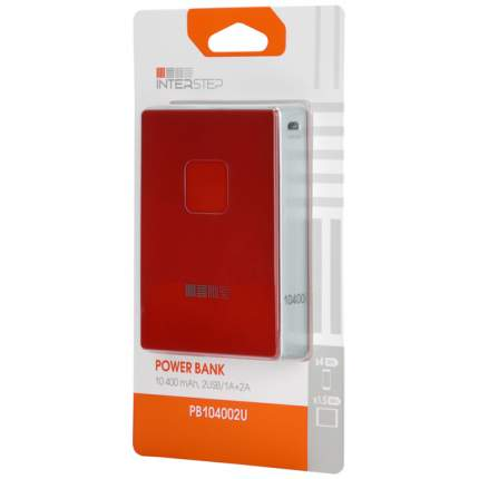 Внешний аккумулятор InterStep PB104002U B 10400 мА/ч (IS-AK-PB10402UR-000B20) Red