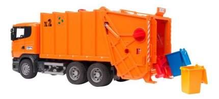 Мусоровоз Bruder Scania оранжевый
