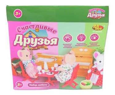 Набор мебели ABtoys Счастливые друзья для кухни-столовой pt-00305