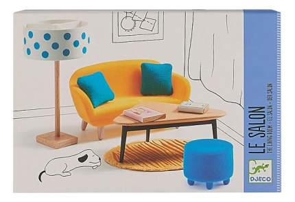 Оранжевая гостиная для кукольного дома Djeco
