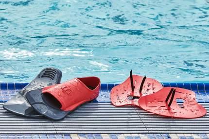Ласты для плавания TYR Burner Ebr Fins, размер 42-43, красные