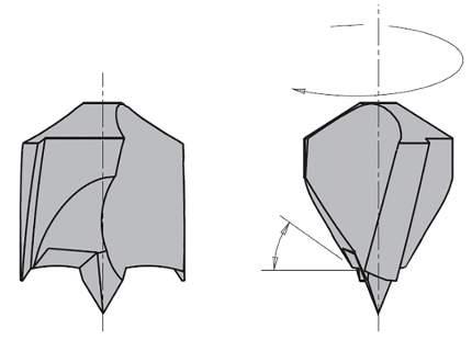 Сверло HW для присадочного станка 12x65x105 Z=2+2 S=10x30 LH CMT 372.120.12