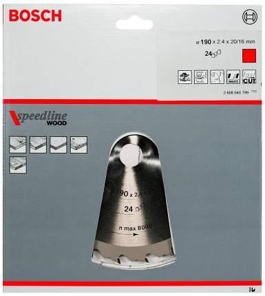 Диск по дереву Bosch STD SWO 190x20-24T 2608640799