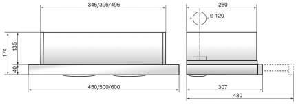 Вытяжка встраиваемая Elikor Интегра 45П-400-В2Л КВ II М-400-45-280 Beige