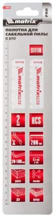 Полотно пильное для сабельных пил MATRIX S1111K 200 8,5 мм HCS 2 шт 782012