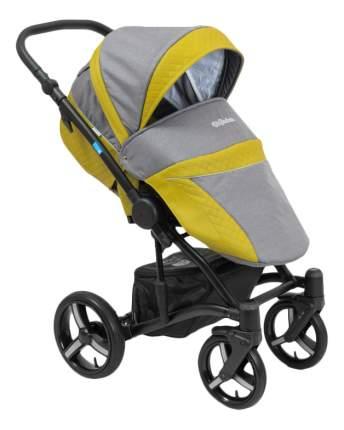 Коляска 2 в 1 Mr Sandman West-East Premium черный, серый, желтый