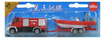 Машина спецслужбы Siku Пожарная машина с катером 1:87