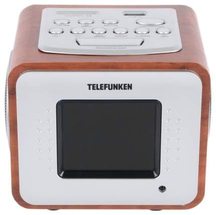 Радио-часы Telefunken TF-1575U Темное дерево