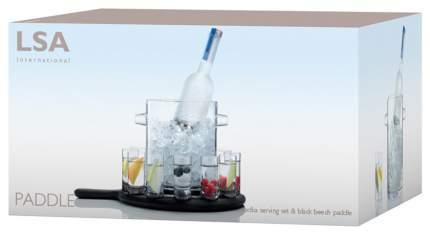 Набор посуды LSA Paddle Ведёрко для льда и 12 стопок на подставке