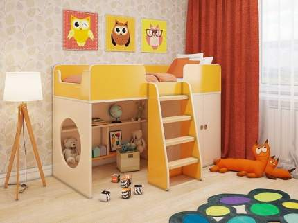 Кровать-чердак Пятая точка Апельсин Оранжевый