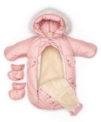 Комбинезон-трансформер конверт Malek-Baby бант розовая точка стежка