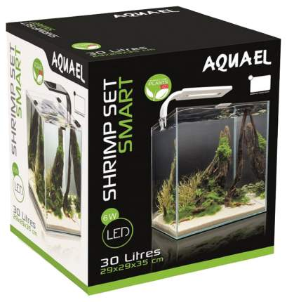 Аквариум для рыб, креветок Aquael Shrimp SET Smart LED Plant ll, черный, 30 л